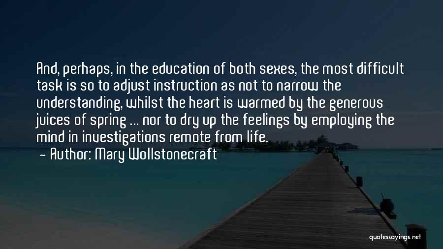 Feelings From Heart Quotes By Mary Wollstonecraft