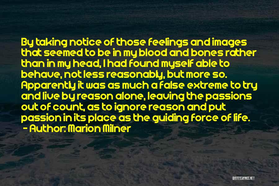 Feelings Images Quotes By Marion Milner