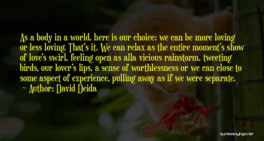Feelings Of Love Quotes By David Deida