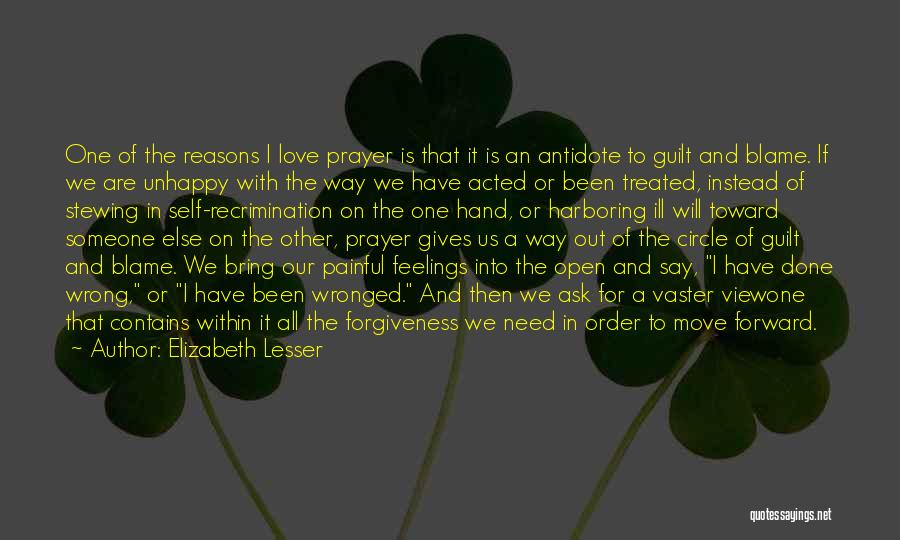 Feelings Of Love Quotes By Elizabeth Lesser