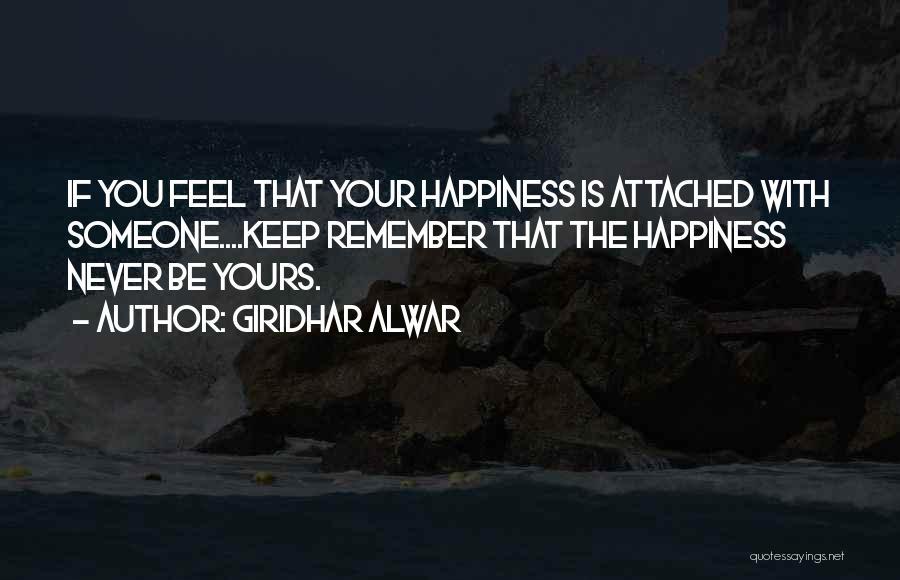 Feelings Of Love Quotes By Giridhar Alwar