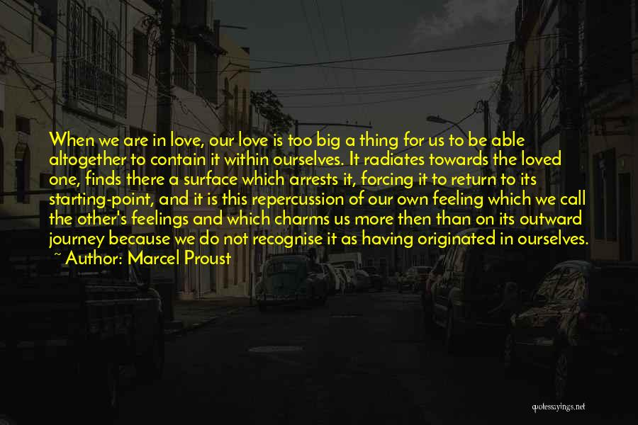 Feelings Of Love Quotes By Marcel Proust