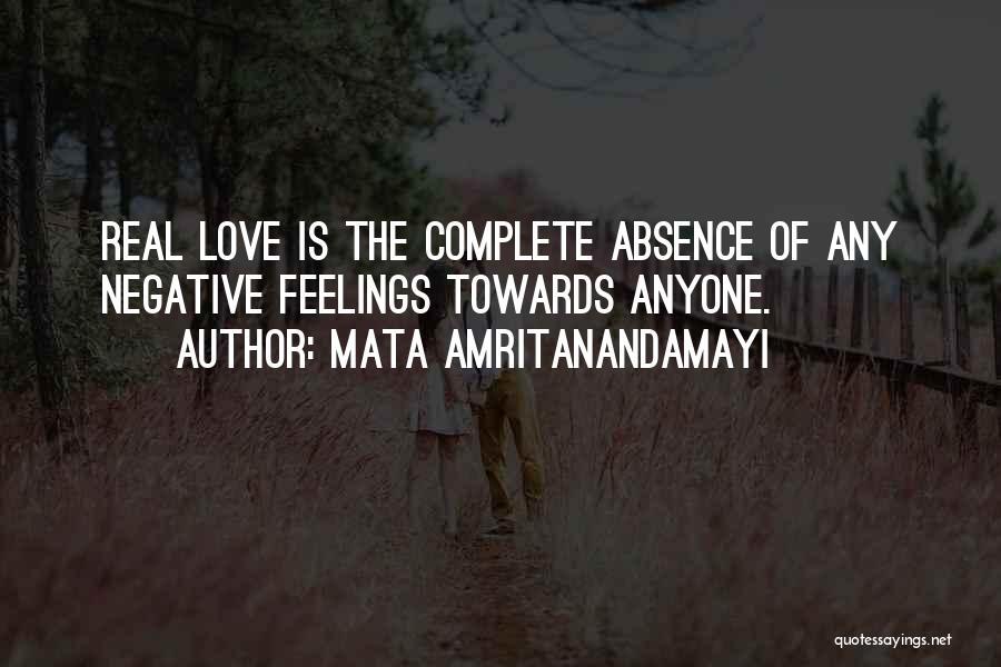 Feelings Of Love Quotes By Mata Amritanandamayi