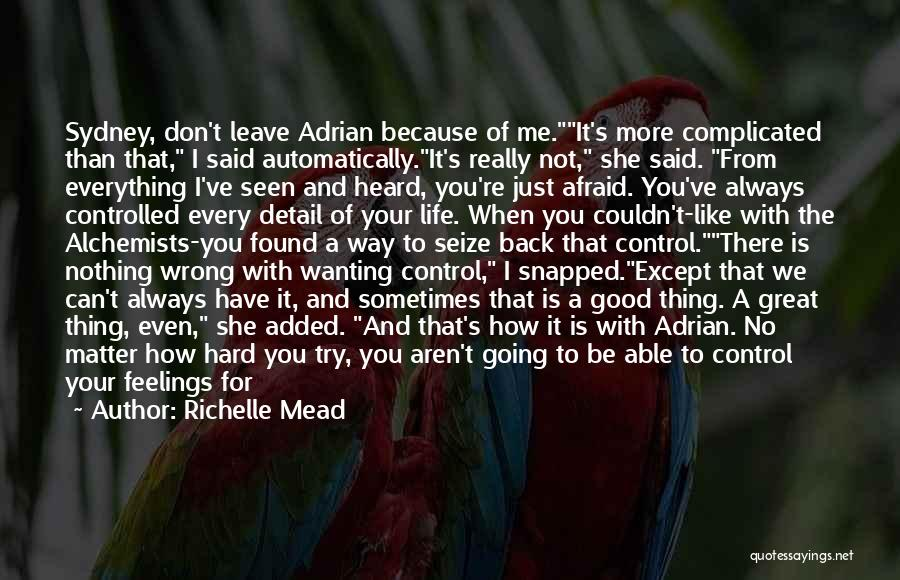 Feelings Of Love Quotes By Richelle Mead
