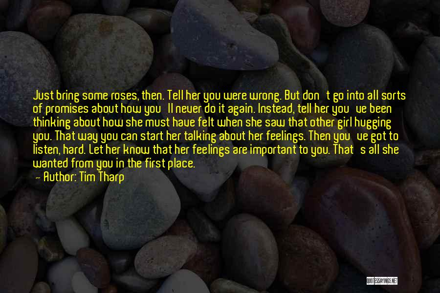 Feelings Of Love Quotes By Tim Tharp