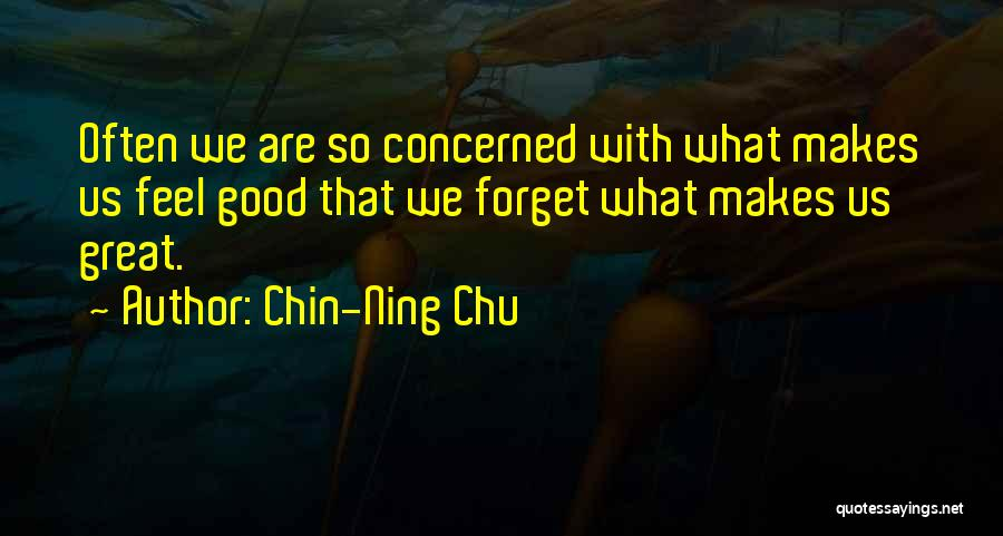 Feels Great Quotes By Chin-Ning Chu