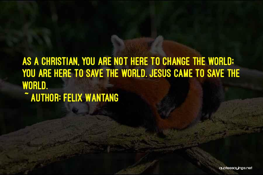 Felix Wantang Quotes 420724