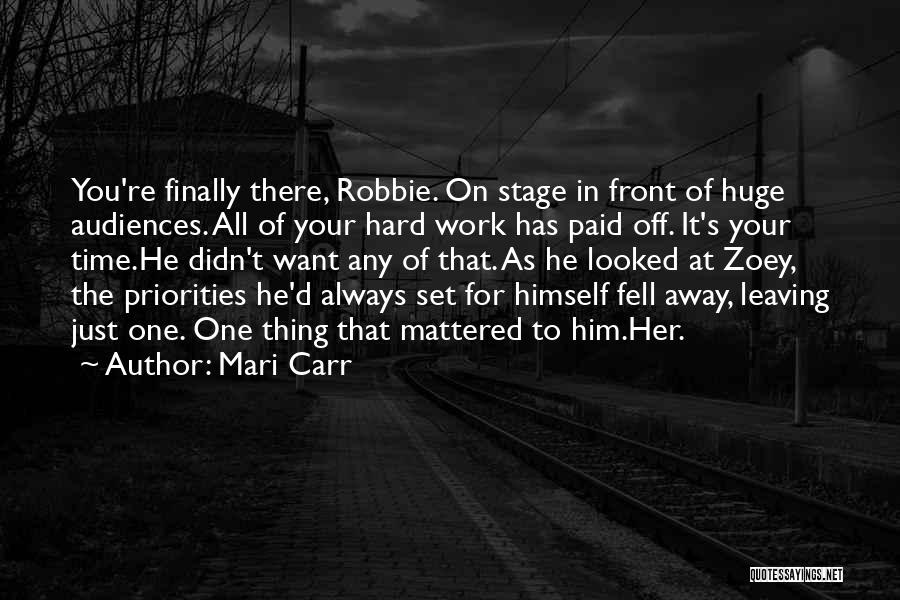 Fell Hard For You Quotes By Mari Carr