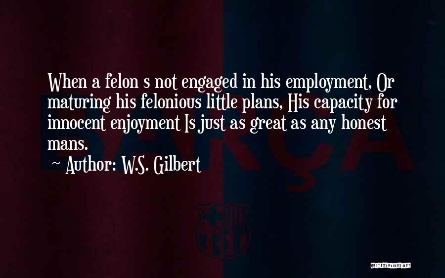 Felons Quotes By W.S. Gilbert