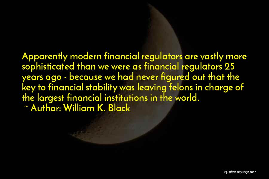 Felons Quotes By William K. Black