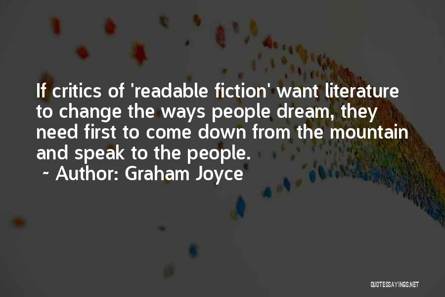 Fiction Literature Quotes By Graham Joyce