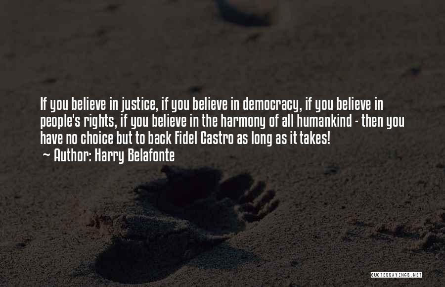 Fidel Quotes By Harry Belafonte