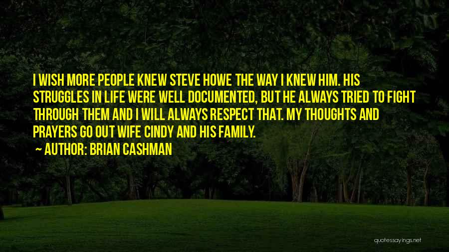 Fight Through Struggle Quotes By Brian Cashman