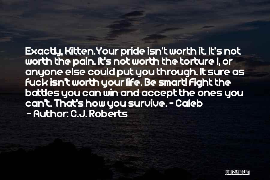 Fight Through The Pain Quotes By C.J. Roberts