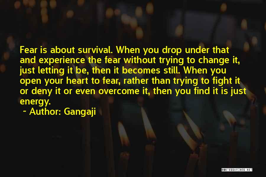 Fighting Fear Quotes By Gangaji