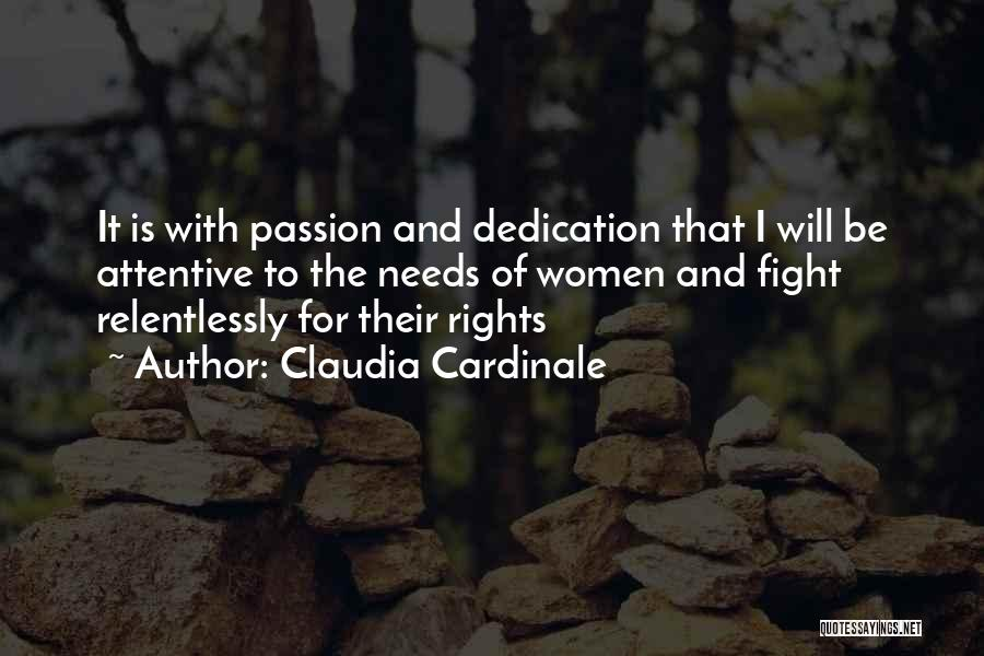 Fighting For Rights Quotes By Claudia Cardinale