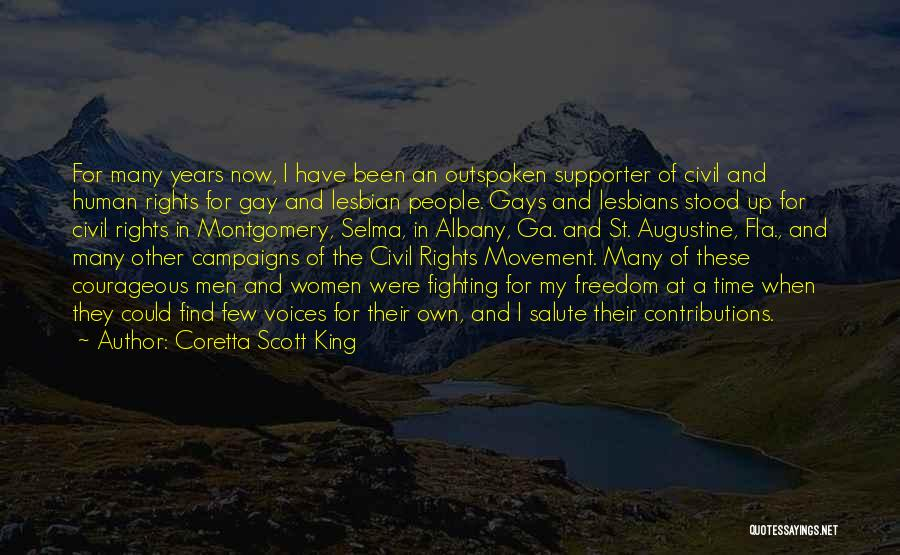 Fighting For Rights Quotes By Coretta Scott King
