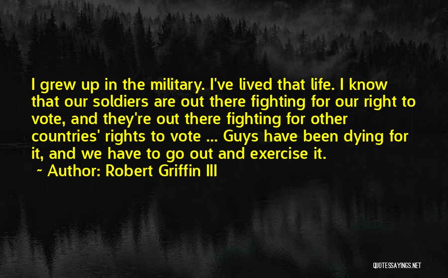 Fighting For Rights Quotes By Robert Griffin III
