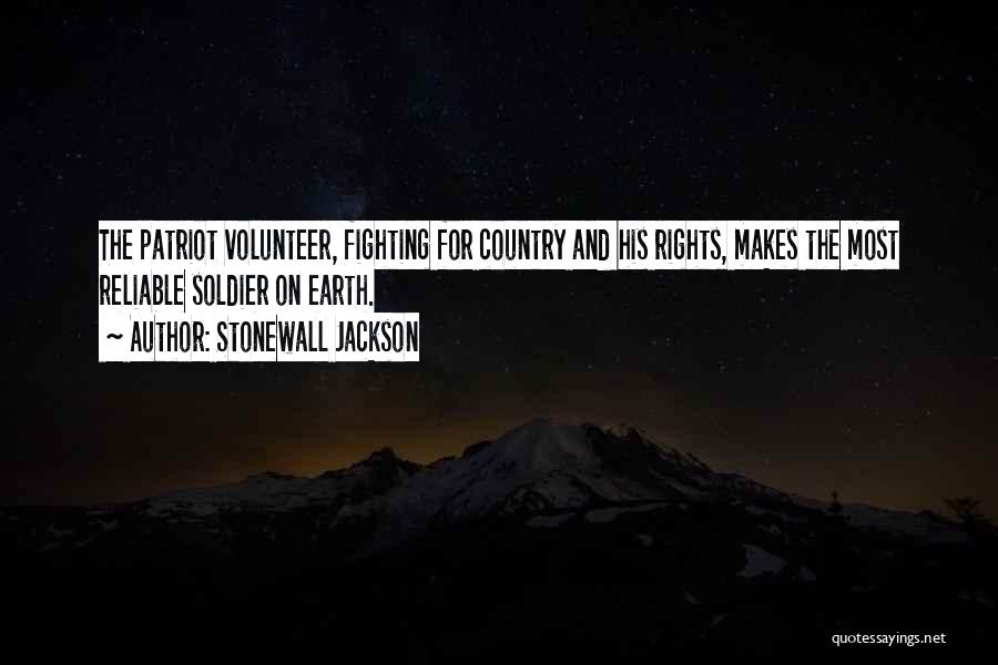 Fighting For Rights Quotes By Stonewall Jackson