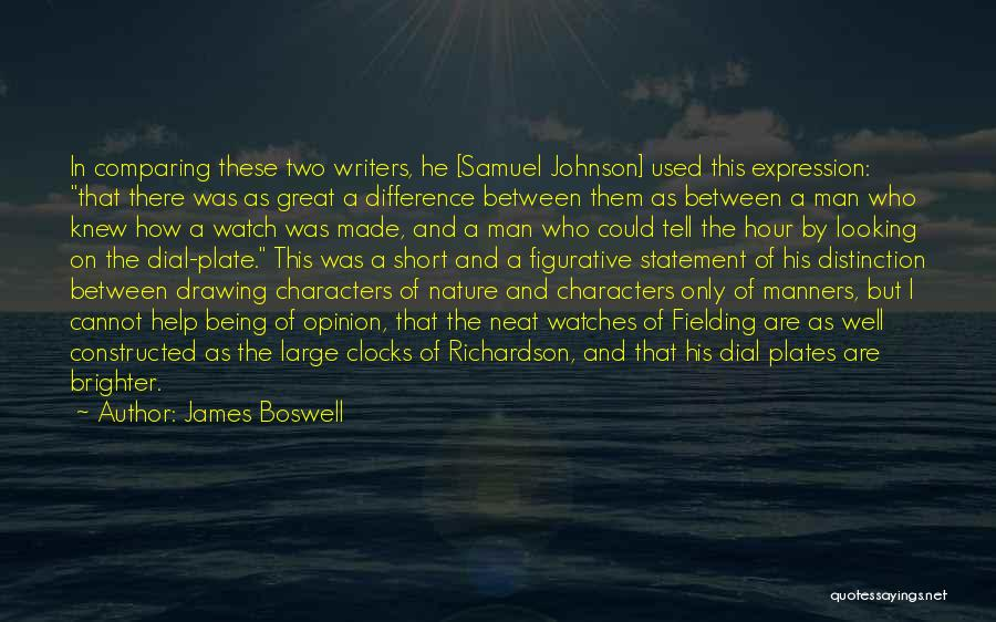 Figurative Quotes By James Boswell