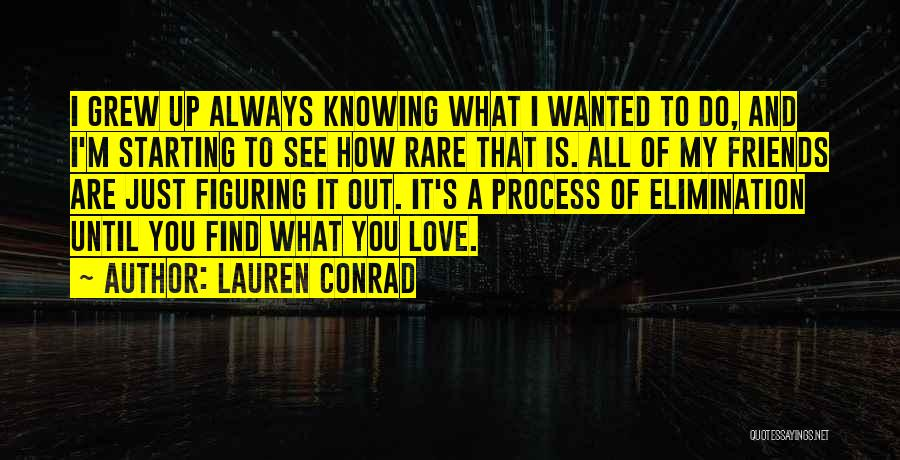 Figuring Out Who Your Friends Are Quotes By Lauren Conrad