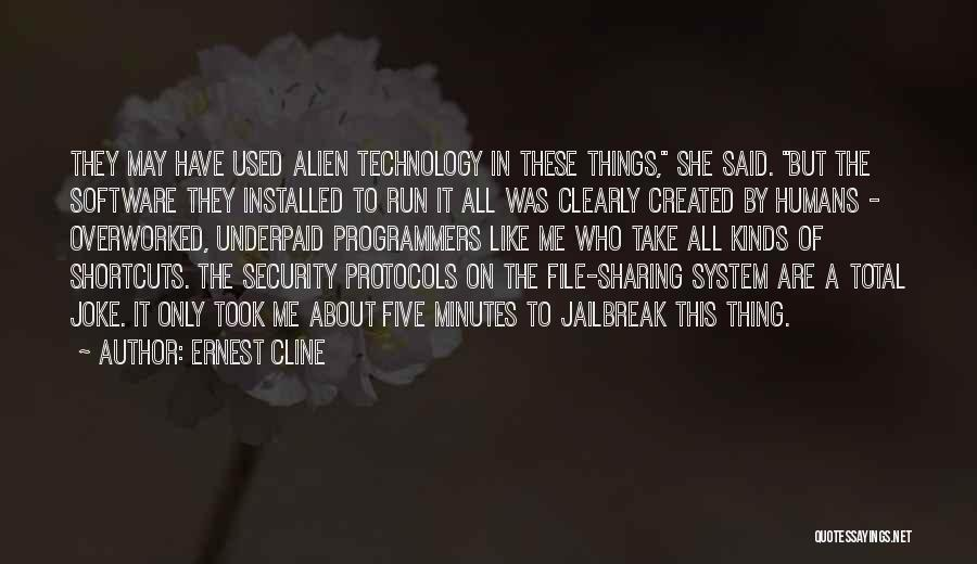 File Quotes By Ernest Cline