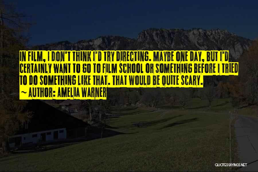 Film Directing Quotes By Amelia Warner