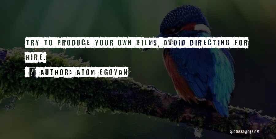 Film Directing Quotes By Atom Egoyan