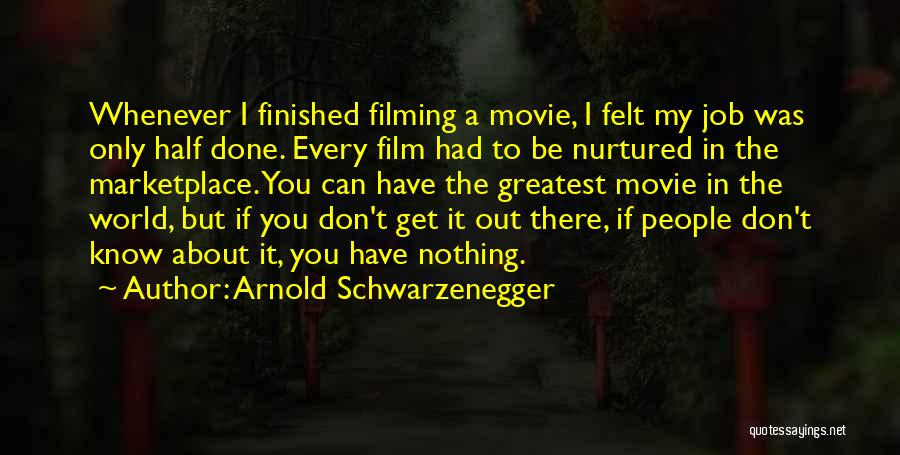 Filming Quotes By Arnold Schwarzenegger