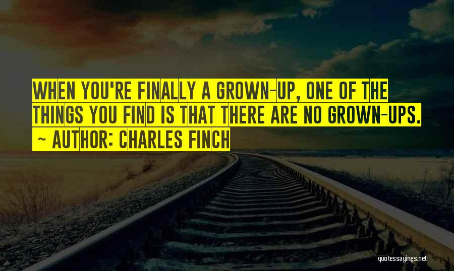 Finally Find You Quotes By Charles Finch