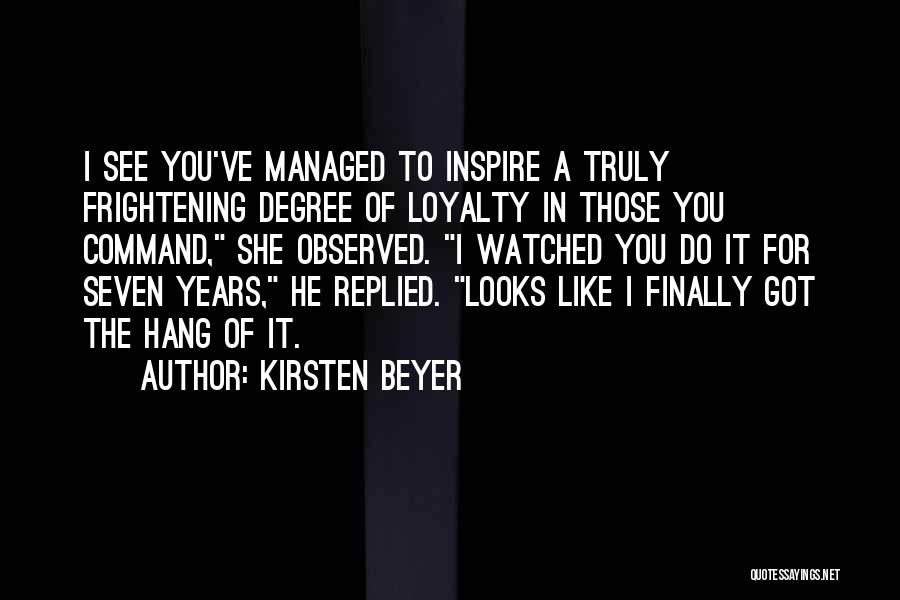 Finally Got To See You Quotes By Kirsten Beyer