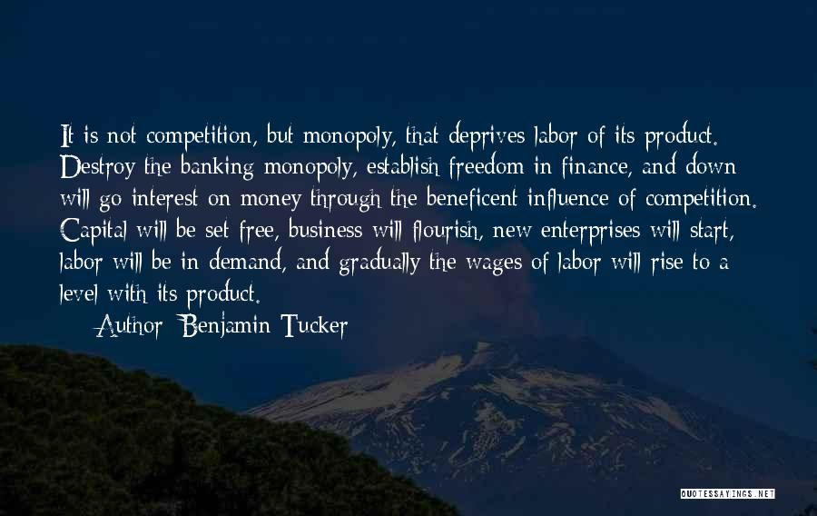 Finance And Banking Quotes By Benjamin Tucker