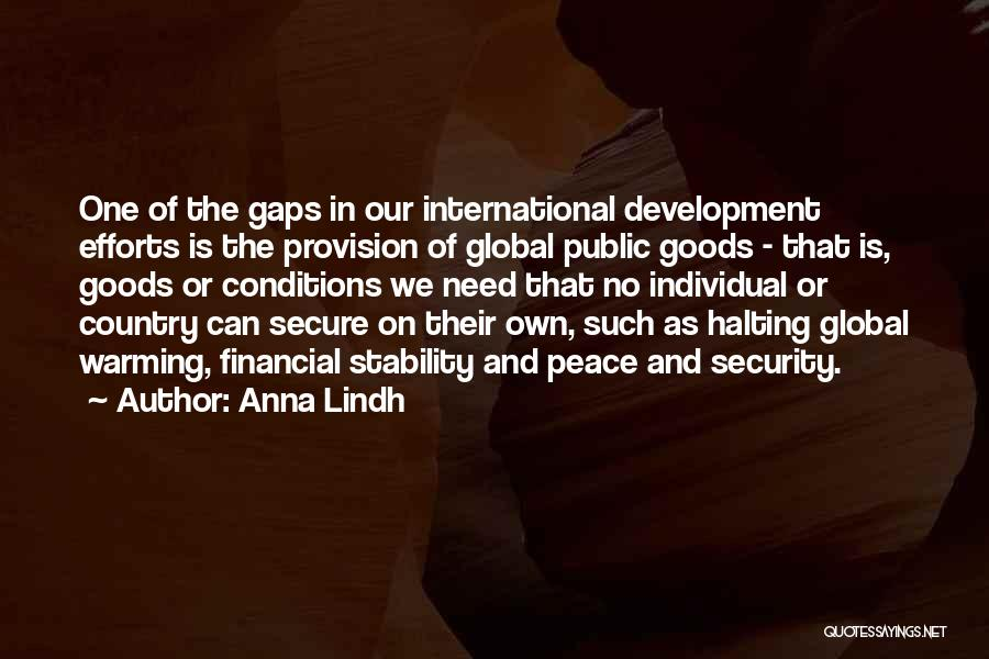 Financial Stability Quotes By Anna Lindh