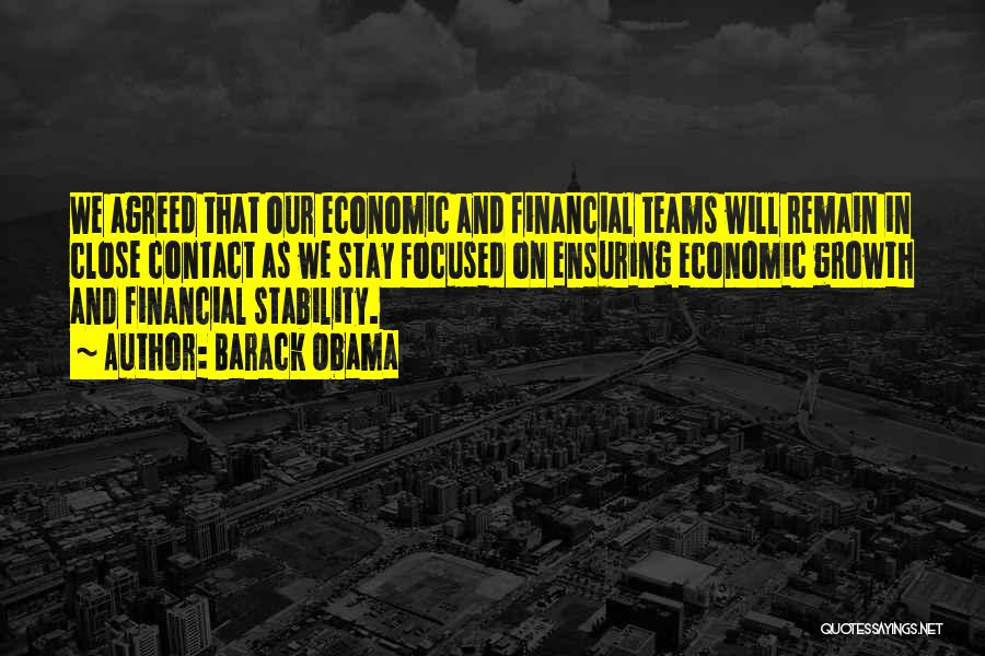 Financial Stability Quotes By Barack Obama