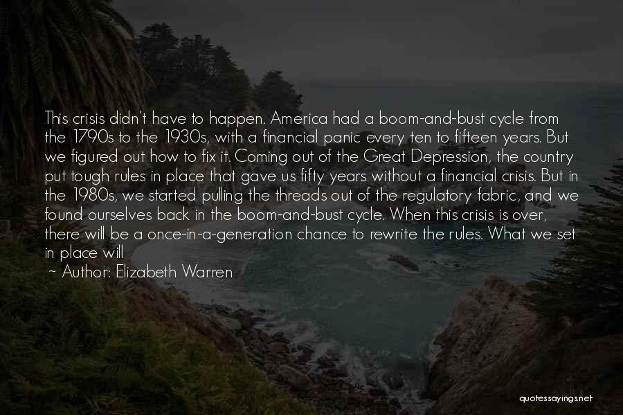 Financial Stability Quotes By Elizabeth Warren