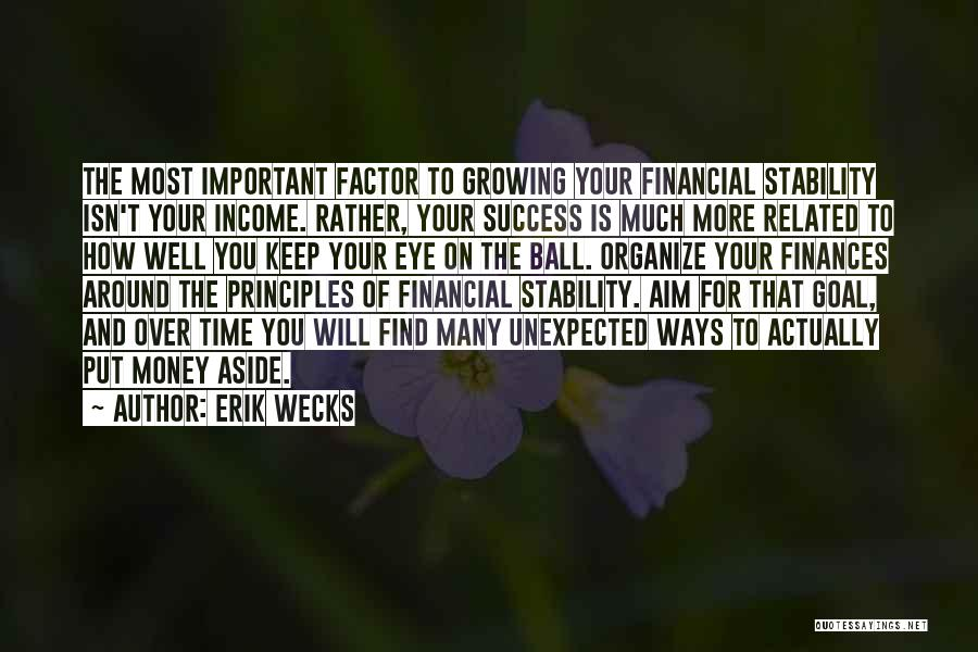 Financial Stability Quotes By Erik Wecks