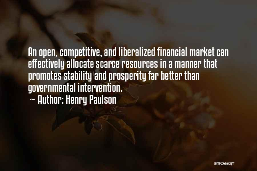 Financial Stability Quotes By Henry Paulson