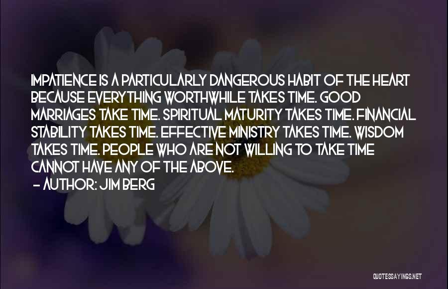 Financial Stability Quotes By Jim Berg