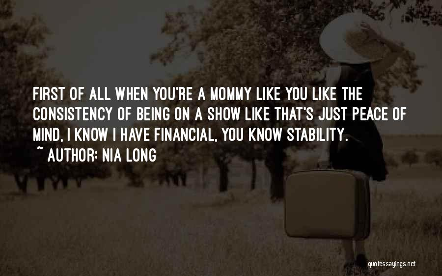 Financial Stability Quotes By Nia Long