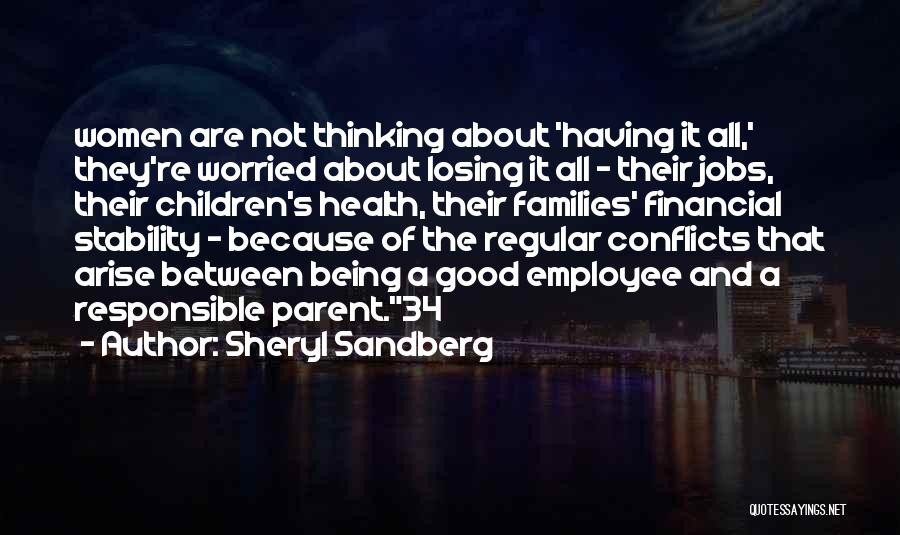Financial Stability Quotes By Sheryl Sandberg