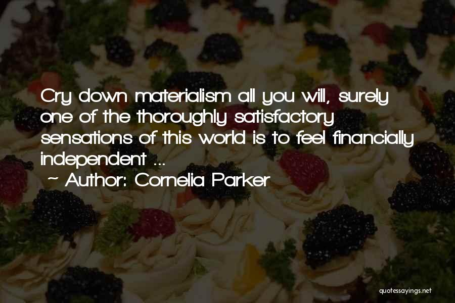Financially Down Quotes By Cornelia Parker