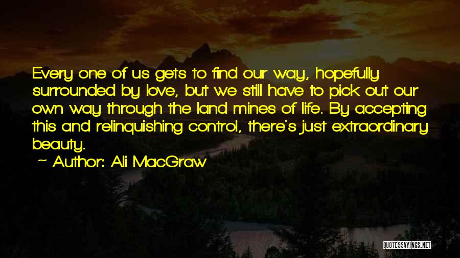 Find The Beauty Quotes By Ali MacGraw