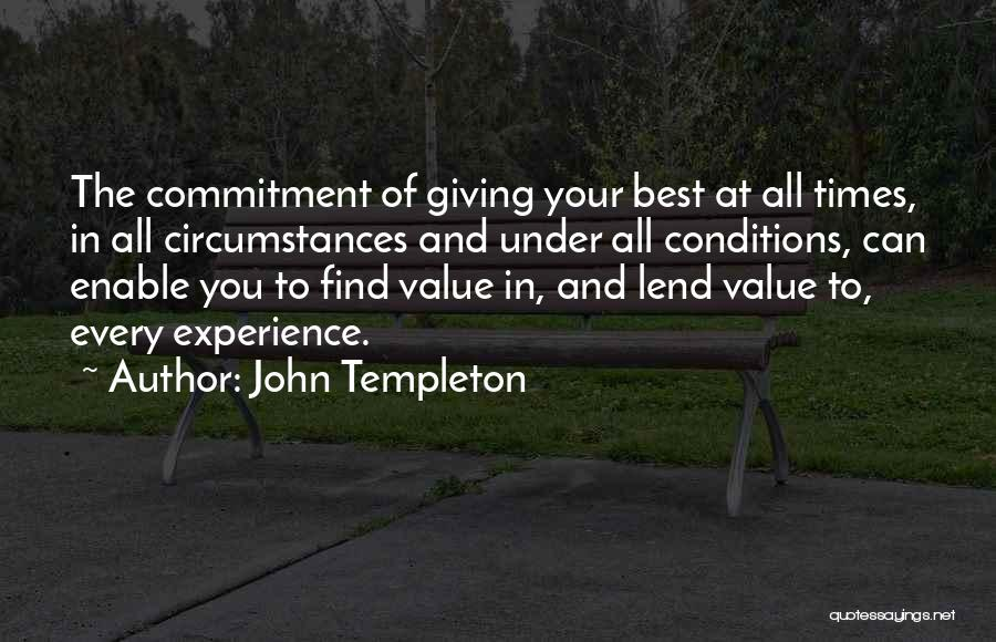 Find The Best In You Quotes By John Templeton