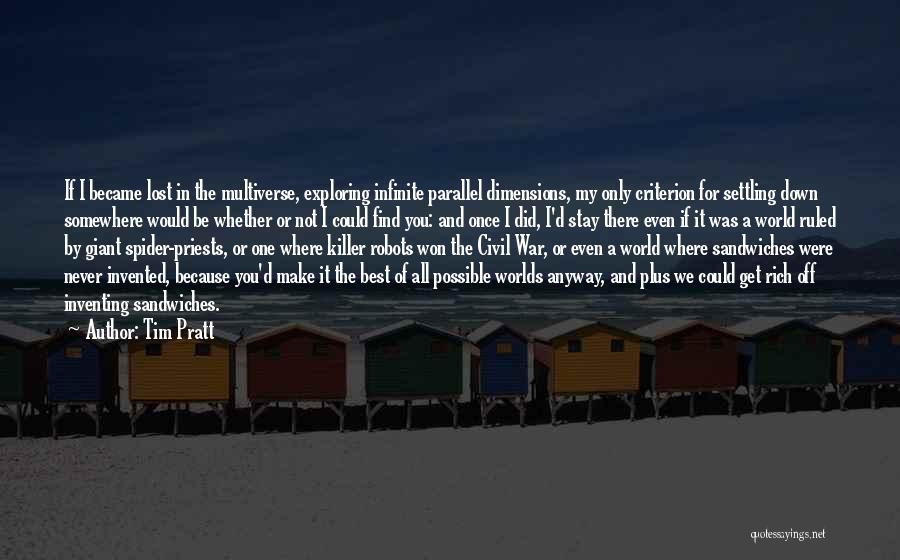 Find The Best Quotes By Tim Pratt