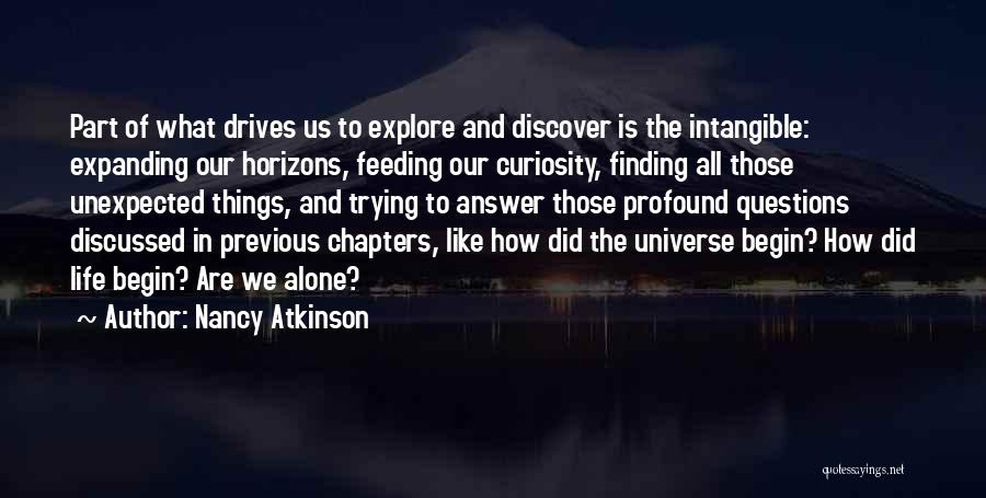 Finding An Answer Quotes By Nancy Atkinson