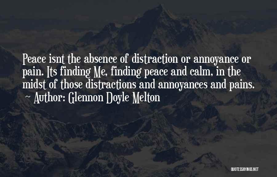 Finding Peace Quotes By Glennon Doyle Melton