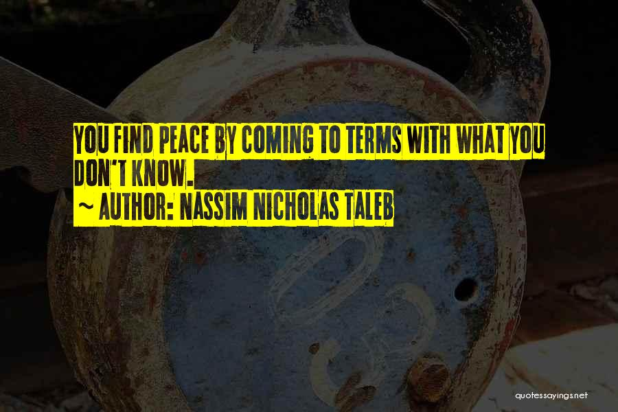 Finding Peace Quotes By Nassim Nicholas Taleb