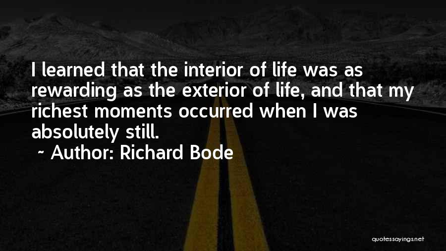 Finding Peace Quotes By Richard Bode