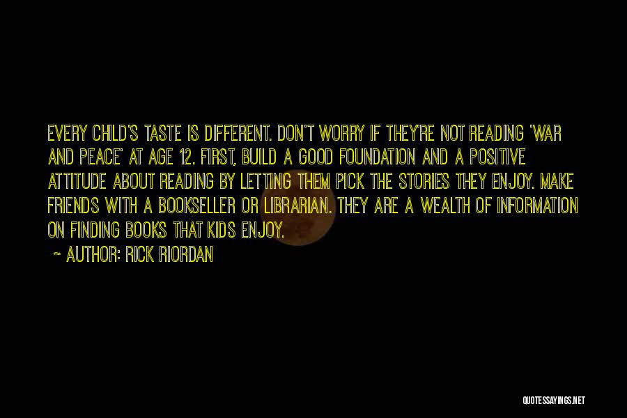 Finding Peace Quotes By Rick Riordan
