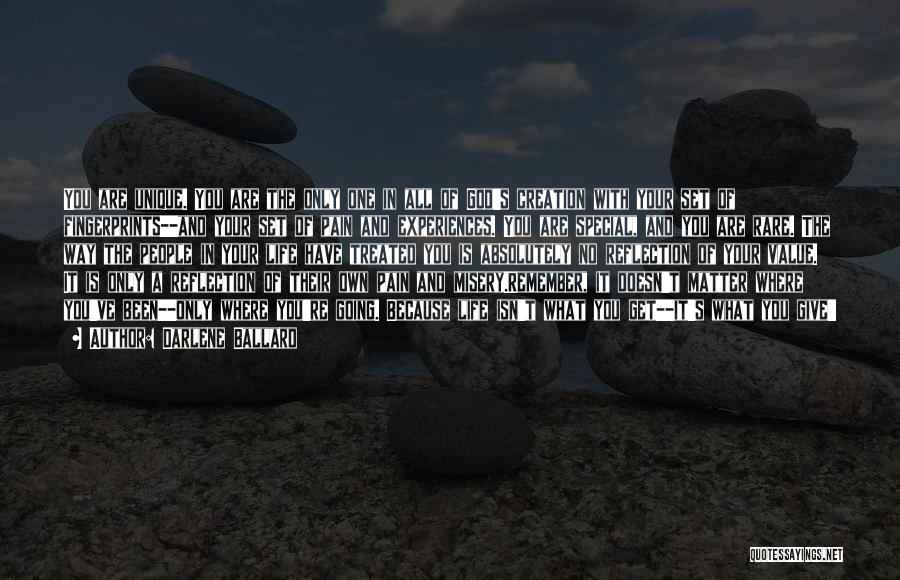 Fingerprints Quotes By Darlene Ballard
